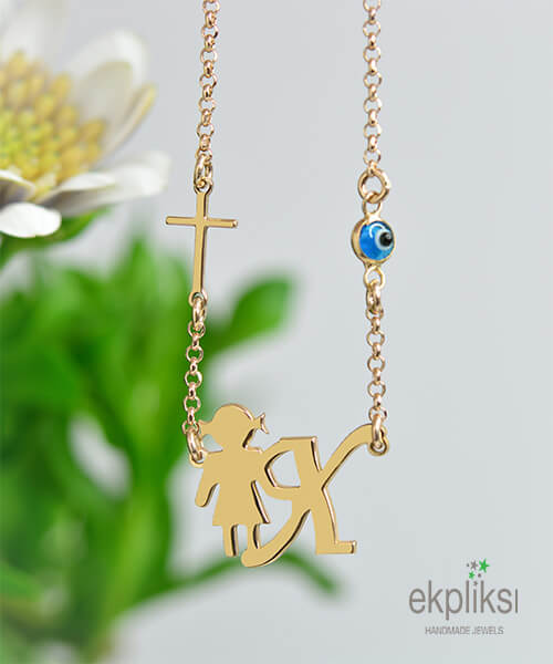 GR 80 Pendants Little Child with Initials 4f639bc9955